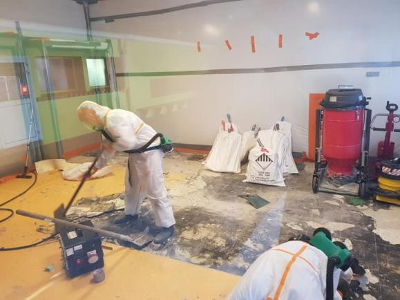 décontamination site