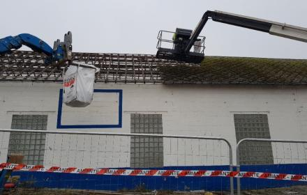 Désamiantage de toiture en ardoise fibrociment contenant de l'amiante à Rouen